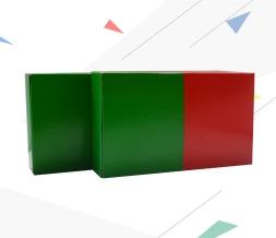 出口品质小产品包装灰底白板插口盒